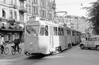 Photos, Stockholm city trams in left-hand-traffic in the sixties